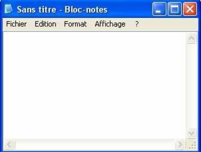 Module 1 initiation 2 la fen tre du bloc notes for Fenetre windows xp