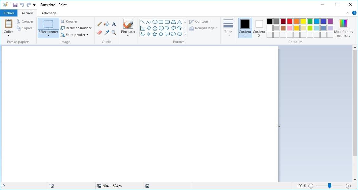 Module 1 initiation la fen tre paint for Fenetre windows outils