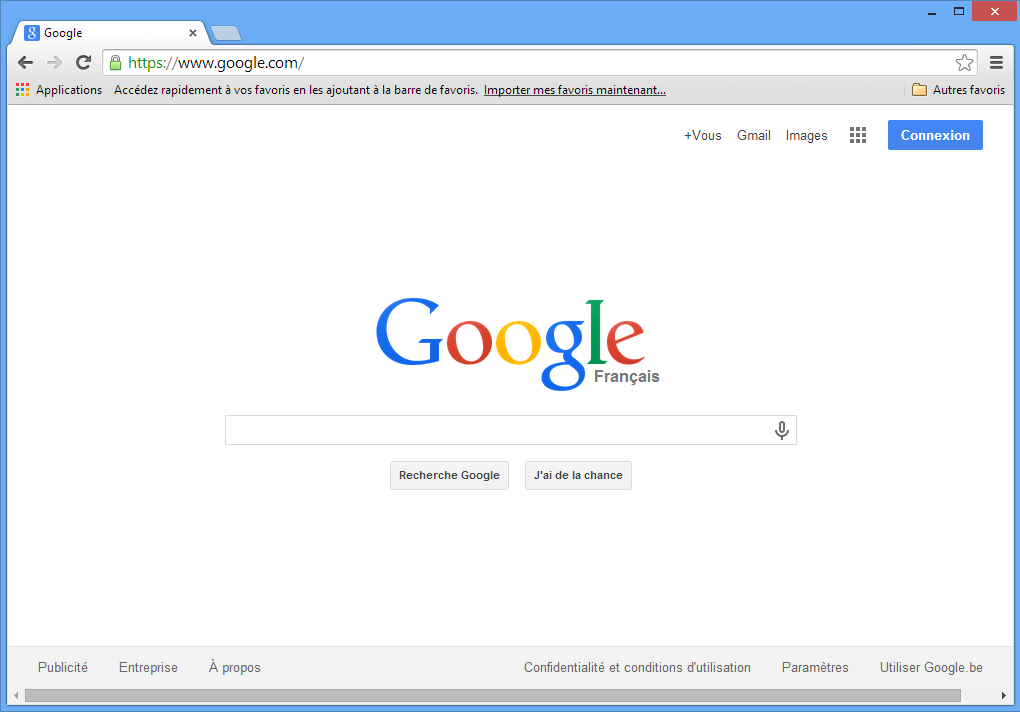 Module 1 initiation 1 5 google chrome for Fenetre internet