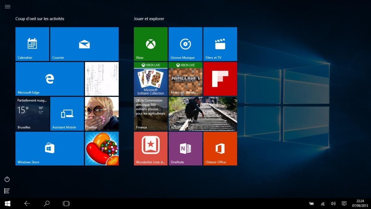 Module 2  Le système d\u0027exploitation Windows 10 , 1.4. Mode