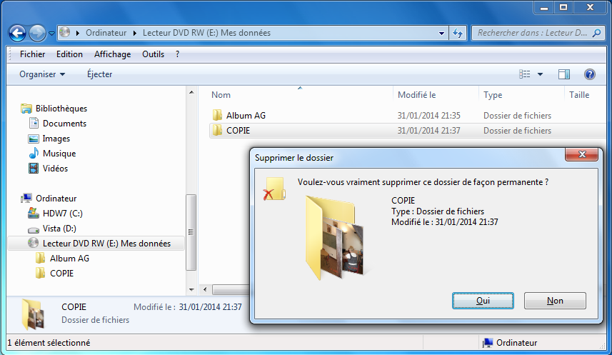 éjecter dvd windows 10
