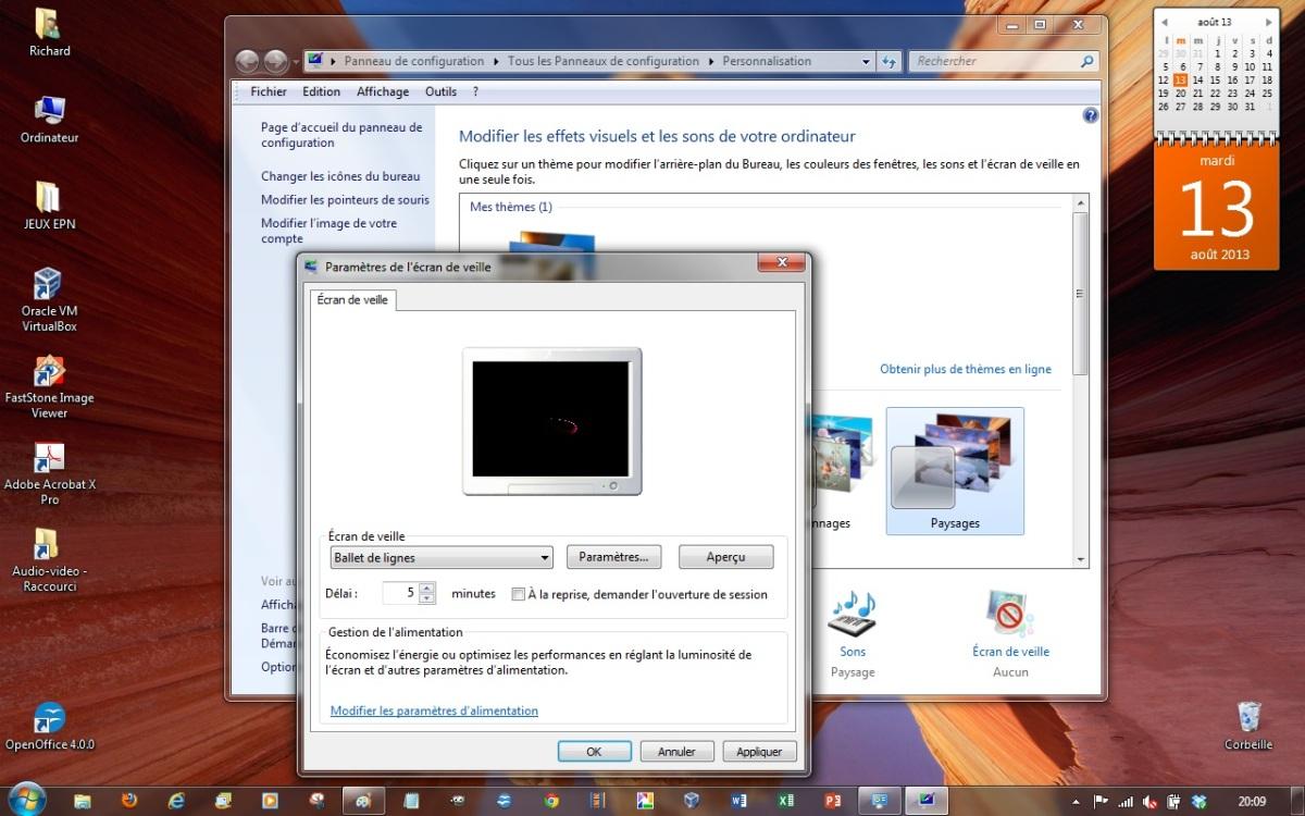 module 2 le syst me d 39 exploitation windows 7 2 3 l 39 arri re plan du bureau. Black Bedroom Furniture Sets. Home Design Ideas