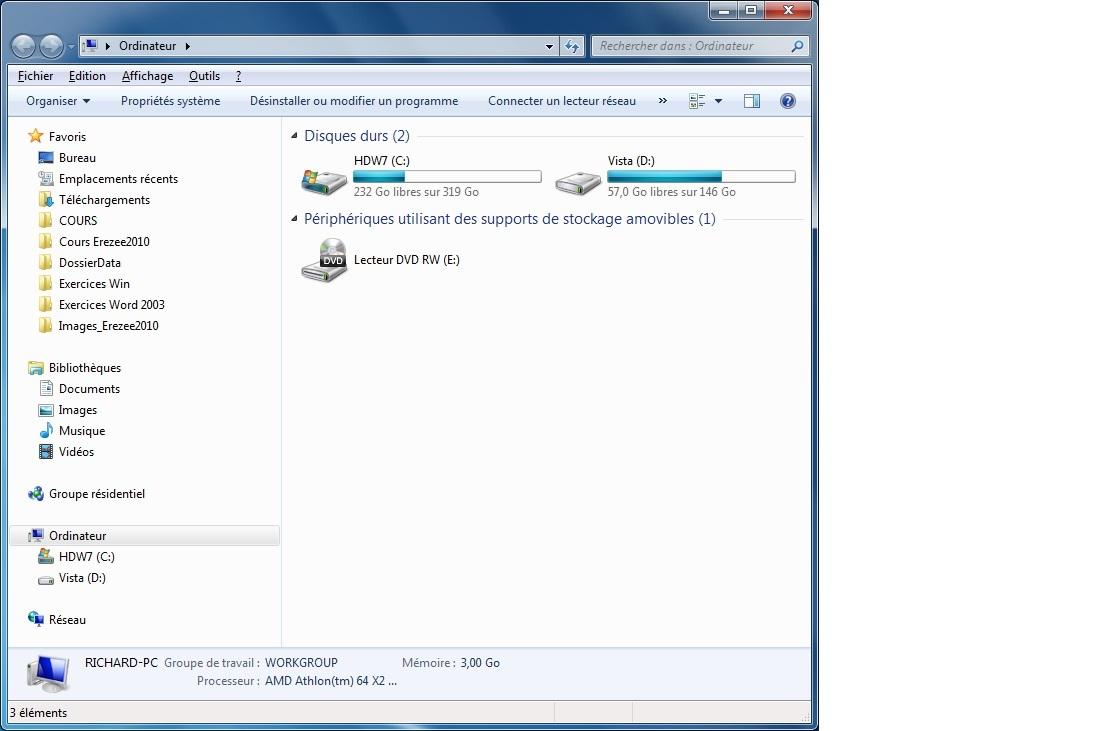 Module 2 le syst me d 39 exploitation windows 7 7 2 l for Fenetre explorateur windows 7