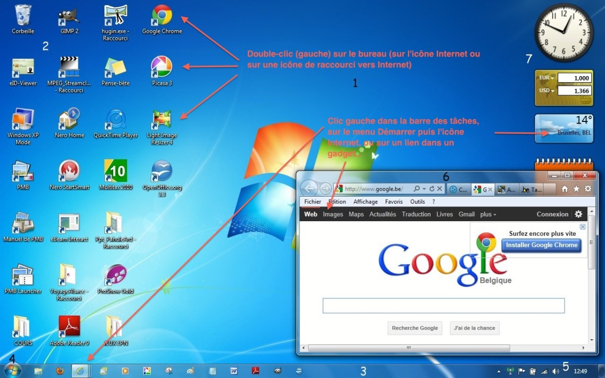 Module 2 le syst me d 39 exploitation windows 7 le bureau for Fenetre windows 7 outils