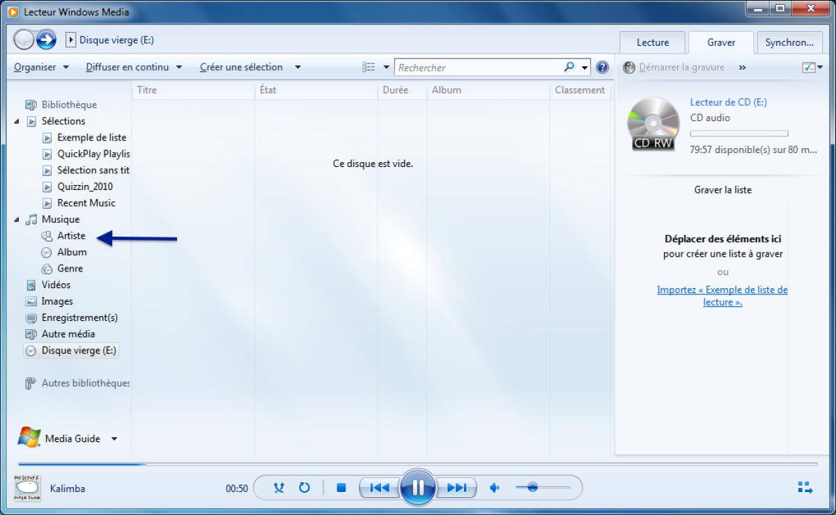 module 2 le syst me d 39 exploitation windows 7 9 1 graver un cd audio. Black Bedroom Furniture Sets. Home Design Ideas