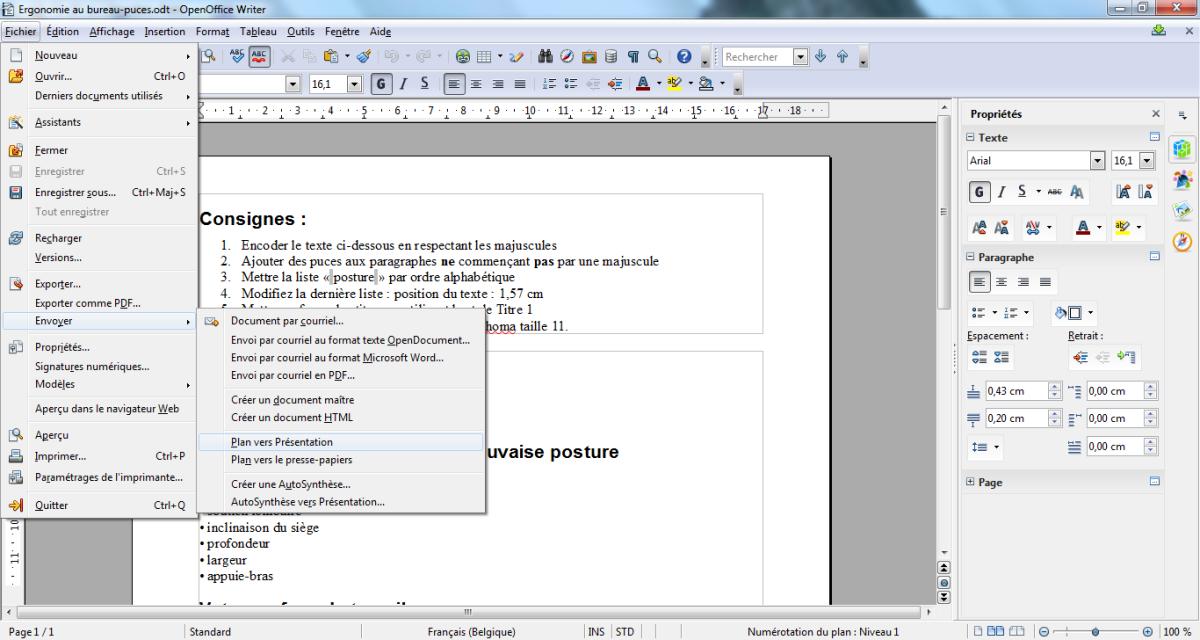 Module 3 bureautique powerpoint 2010 ou impress 4 bases 6 3 cr er partir de writer - Arriere plan open office writer ...