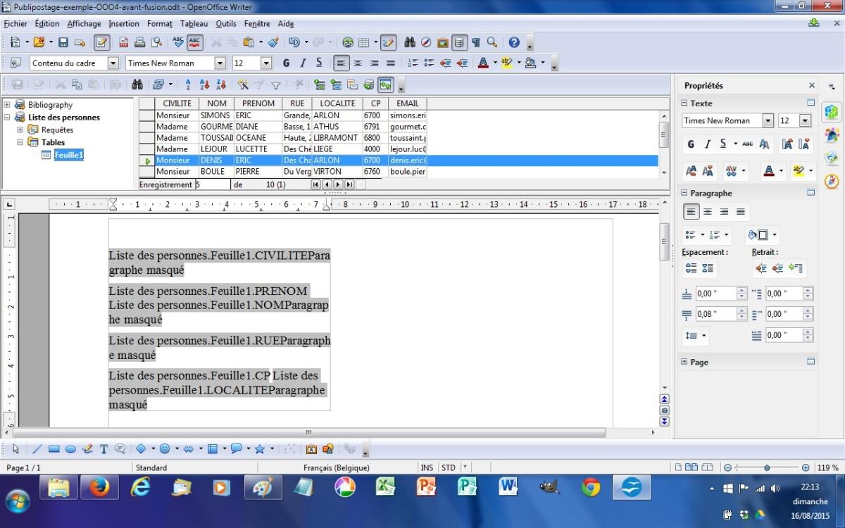 Ppt word enveloppe fenetre a4 for Enveloppe fenetre word