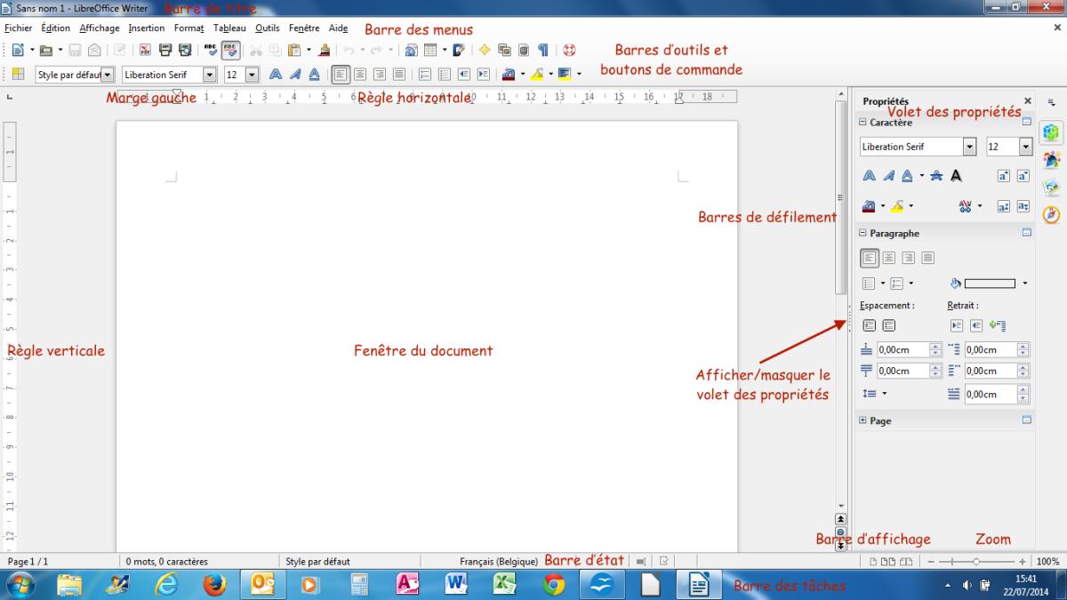 Module 3 bureautique word 2010 writer 4 bases les for Fenetre windows outils